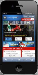 Pariez sur France-Pari avec votre téléphone
